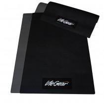 【來福嘉 LifeGear】88300 台製6mm隔音避震防刮瑜珈地墊(中版)-黑色